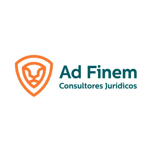 logotipo AdFinem abogados hecho por velove branding studio